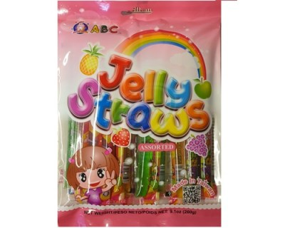 fruit jelly straw